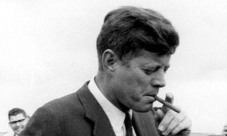 john Kenedy với xì gà cuba