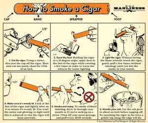 cách hút xì gà