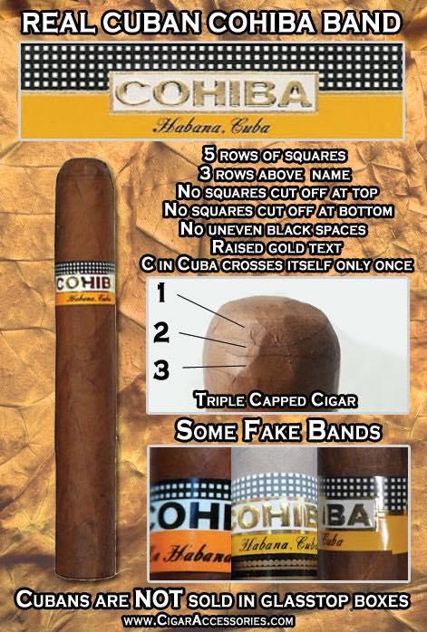 xì gà cohiba thật và giả