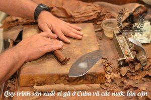 quy trình sản xuất xì gà thủ công ở cuba