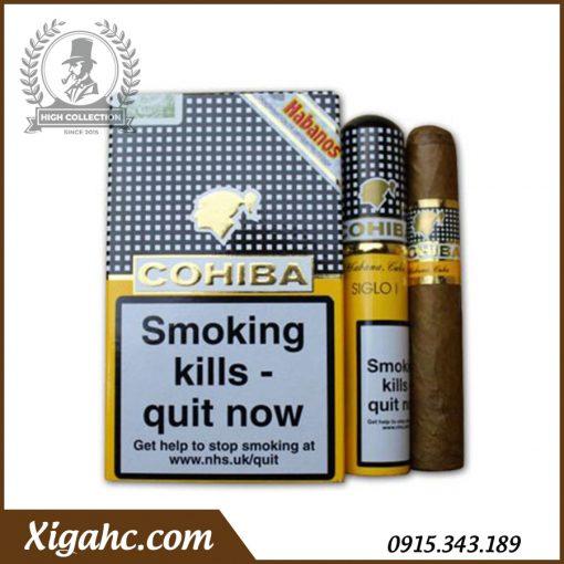 Xì gà Cohiba 3 Siglo I Tubos – Bao 3 Điếu có Tubos