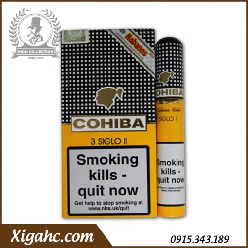 Xì gà Cohiba 3 Siglo II Tubos – Bao 3 Điếu Tubos