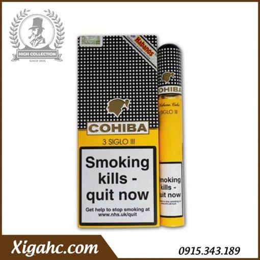 Xì gà Cohiba 3 Siglo III Tubos – Bao 3 Điếu có Tubos