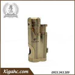 Bật lửa xì gà Cohiba COB359 2 tia – Màu Gold