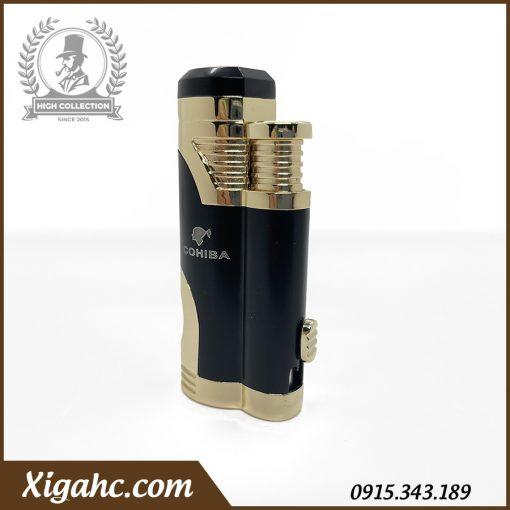 Bật lửa xì gà Cohiba COB359 2 tia - Màu Black Gold