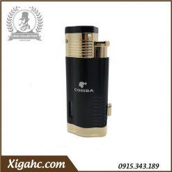 Bật lửa xì gà Cohiba COB360 3 tia - Màu Black Gold