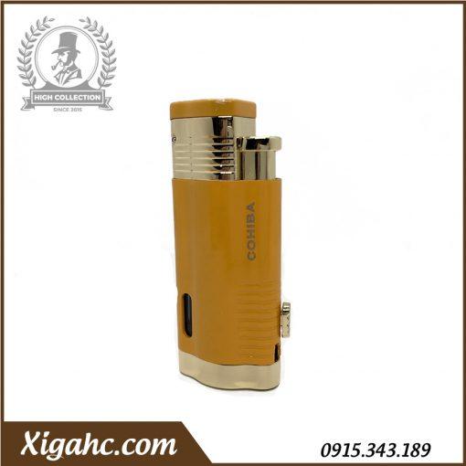 Bật lửa xì gà Cohiba COB360 3 tia - Màu Vàng