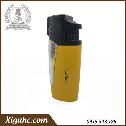 Bật lửa xì gà Lubinski SK43 3 tia màu vàng