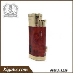 Bật lửa xì gà cohiba COB360 3 tia - Màu Đỏ