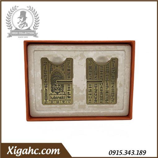 Đế Gác Xì Gà Lubinski YJA20001 - Màu Đồng Họa Tiết Ai Cập