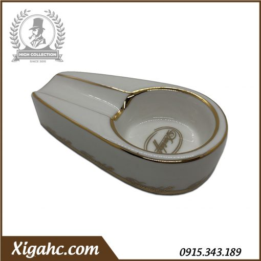 Gạt tàn xì gà 1 điếu P100 - Màu Trắng Hoa Văn Chữ