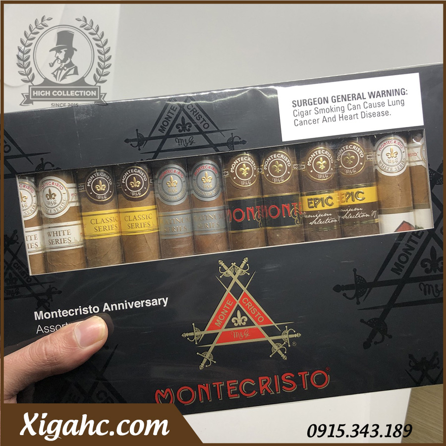 Xi Ga Montecristo Anniversary Assortment 12 2